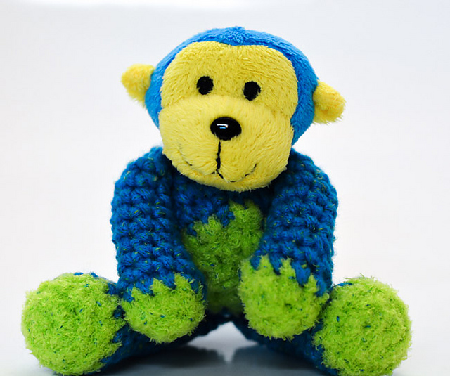 DMC Top This Amigurumi Monkey Free Crochet Pattern by Mielke's Fiber Arts