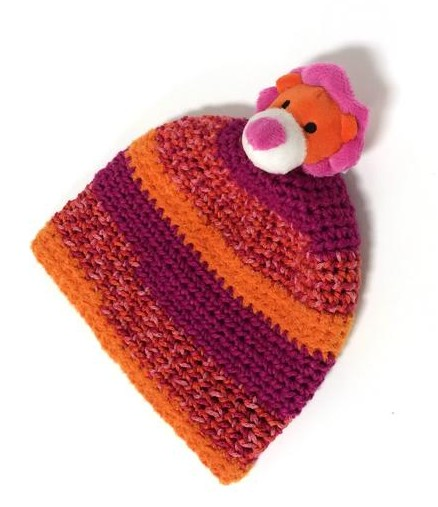 Free DMC Top This Yarn Crochet Hat Pattern by Kay's Crochet