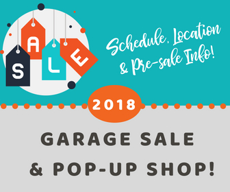 Check out the 2018 garage sales and pop-up shops schedule