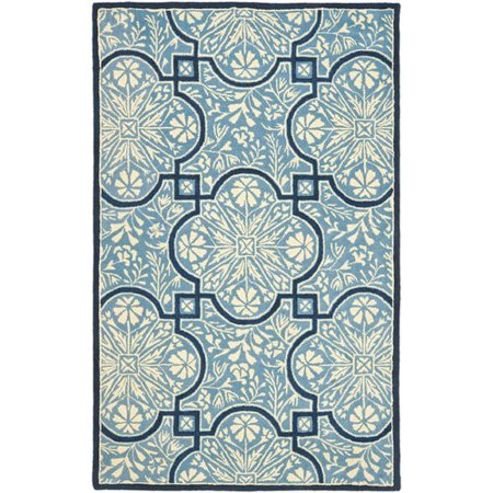 Martha Stewart Rugs French Painted Avignon Hand-Loomed Kerry Blue Area Rug