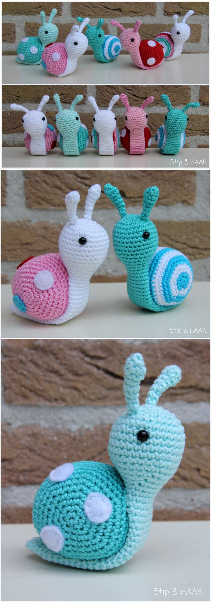 GET THE FREE AMIGURUMI PATTERN HERE - Snail Sofie by Stip & HAAK