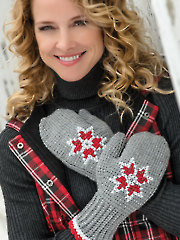 Embroidered Tunisian Mittens - Electronic Download