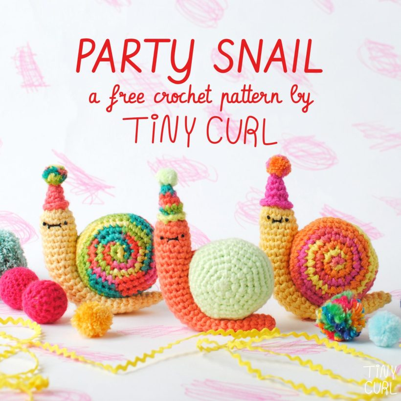 GET THE FREE AMIGURUMI CROCHET PATTERN HERE  - Party Snails by Tiny Curl