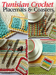 Tunisian Crochet Placemats & Coasters - Electronic Download