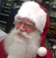 Bellevue Square Santa, Pat C. Visit his calendar to schedule your Santa pictures with him.