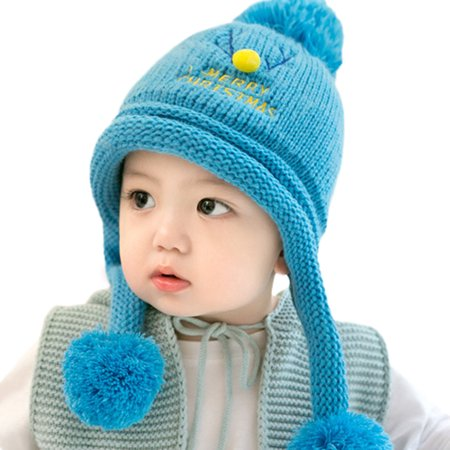 Baby Beanie For Boys Girls Cap Christmas Cotton Ball Hat Warm Children Hats