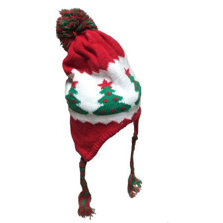 Christmas Beanie Hat With Pom Pom