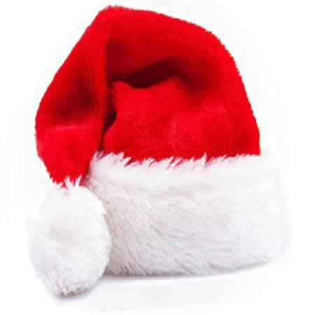 Christmas Cap Thick Ultra Soft Plush Santa Claus Holiday Fancy Dress Up Hat