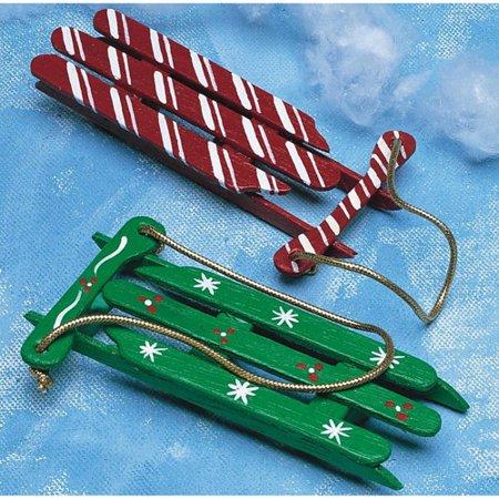 Christmas Sleds Craft Kit, Makes 100
