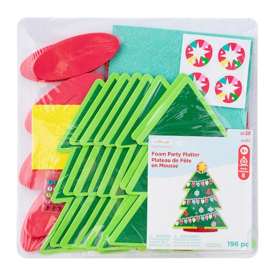 Christmas Tree Platter Foam Activity Kit By Creatology™ | Michaels®
