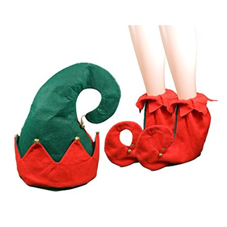 Cp Christmas Felt Elf Hat & Elf Shoes Fits Most Adults Great For Christmas Parties