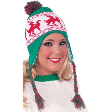 Goofy Reindeer Games Christmas Knit Winter Beanie Hat