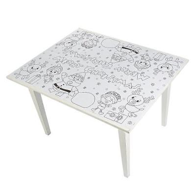 IN-13749785 Color Your Own Christmas Paper Tablecloth