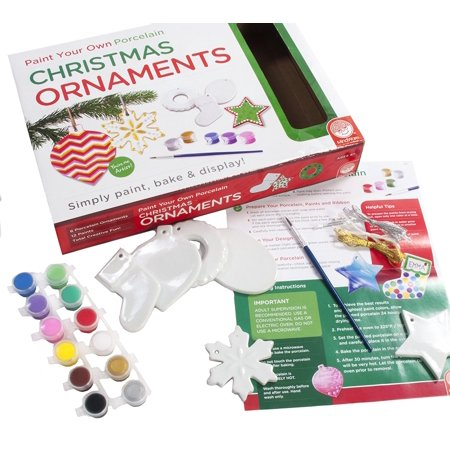 Paint Your Own Christmas Ornaments, EXPRESS YOUR CREATIVITY: Paint Your Own Ornaments from MindWare are easy to use. Simply Paint, Bake and Display! By MindWare