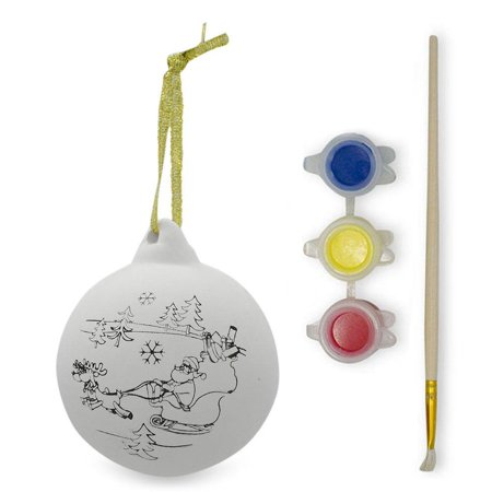 Paint your Own Santa Christmas Ornaments- DIY Craft Kit