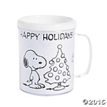 Peanuts Snoopy Color Your Own Christmas Mug Craft