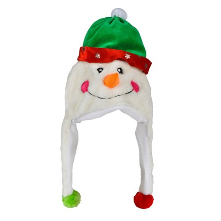 Plush Snowman Christmas Winter Novelty Cap Hat Beanie Costume Accessory