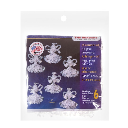 The Beadery® Angel Christmas Ornament Bead Kit | 12 Pack | Michaels®
