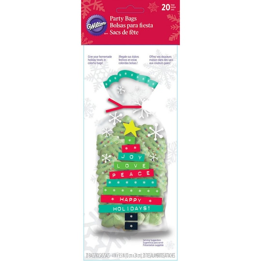 Wilton® Happy Holidays Christmas Tree Party Bags | Michaels®