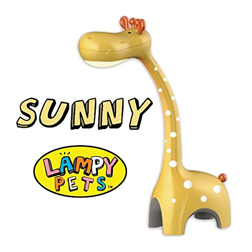 Sunny the Giraffe - Lampy Pets for Kids ad Giraffe LED Desk Lamp, Safari Animal Night Light, Touch Lamp, Kids Decor (Sunny)
