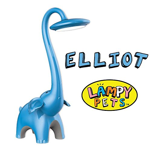 Blue Elephant LED Touch Sensor/Dimmable Desk Lamp  & Safari Animal Night Light