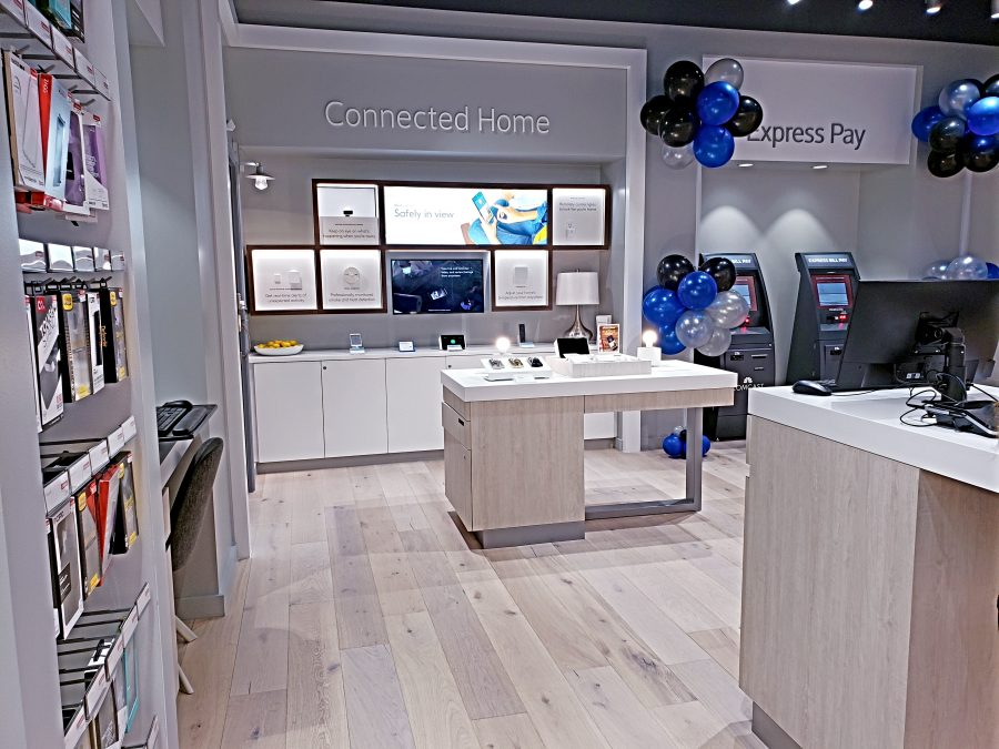 The Connected Home Zone in the Xfinity Store by Comcast provides information on alarm services and home automation.