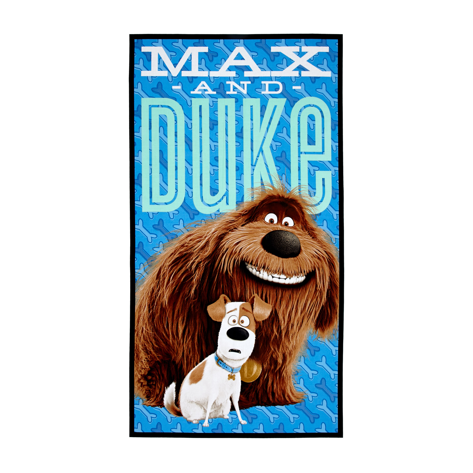 Secret Life Of Pets Max & Duke 24 In. Panel Blue Fabric