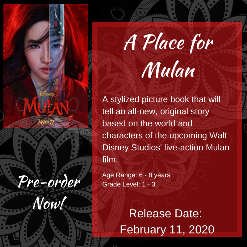 A Place for MULAN - Disney Live-action Movie Tie-in for ages 6-8 and grades 1-3 aff