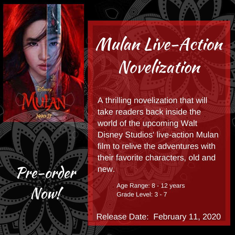 Purchase the MULAN Live-action Film novelization  aff