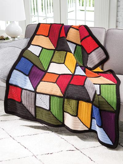 Attic Windows Afghan Crochet Pattern - Electronic Download