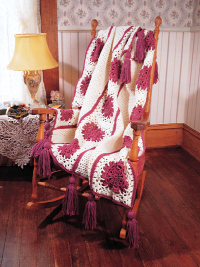 Cabbage Rose Afghan Crochet Pattern