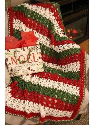 Christmas Dreams Blanket Crochet Pattern - Electronic Download