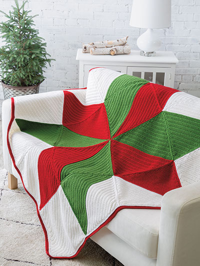 Christmas Star Throw Crochet Pattern - Electronic Download