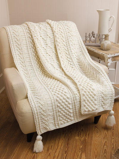 Kerry Aran Afghan Crochet Pattern