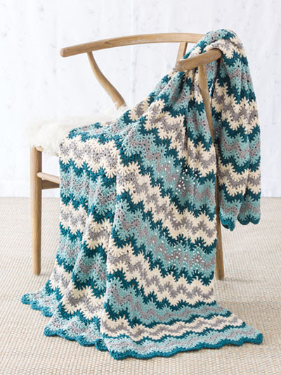 Reversible Ripple Afghan Crochet Pattern - Electronic Download