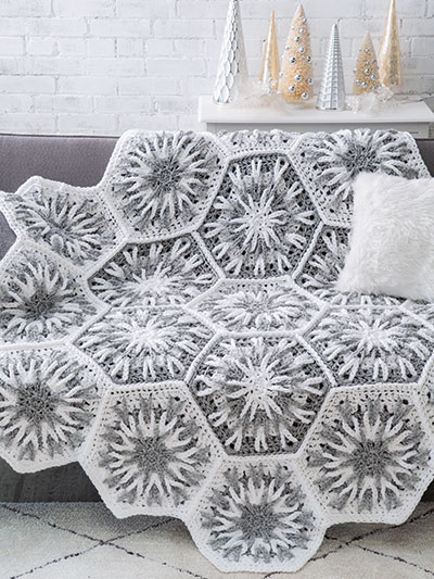 Snowy Evening Afghan Crochet Pattern - Electronic Download