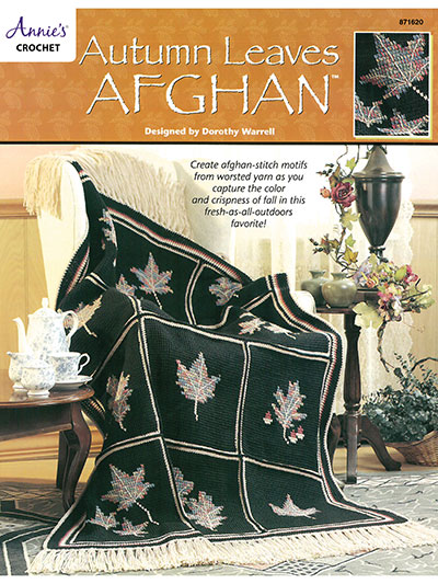 Big Book of Crochet Afghans: 26 Afghans for Year-Round Stitching - Autumn Leaves Afghan - a fall blanket pattern