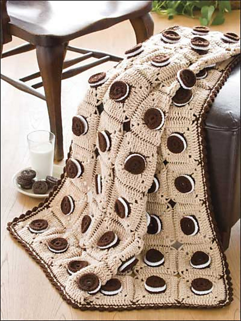 Big Book of Crochet Afghans: 26 Afghans for Year-Round Stitching - Mouthwatering Delight Afghan - Oreo cookie blanket pattern