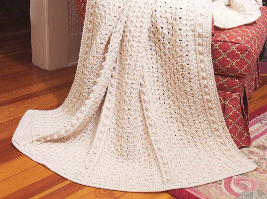 Big Book of Crochet Afghans: 26 Afghans for Year-Round Stitching - Old World Fisherman crochet blanket pattern