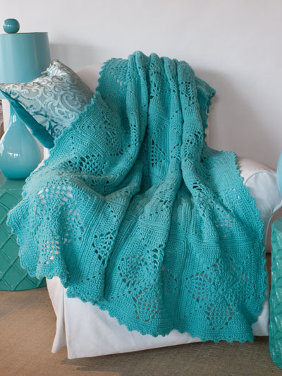 Big Book of Crochet Afghans: 26 Afghans for Year-Round Stitching -- Pineapple Squares Afghan