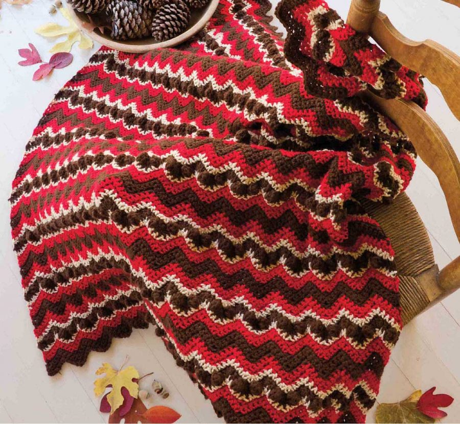 Big Book of Crochet Afghans: 26 Afghans for Year-Round Stitching - Rippling Tones of Autumn - Fall blanket pattern