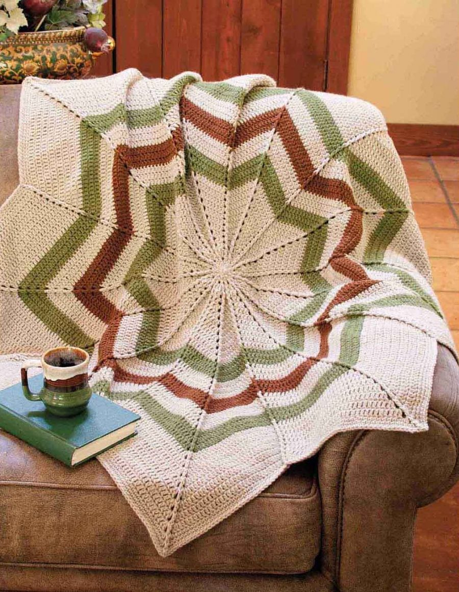 Big Book of Crochet Afghans: 26 Afghans for Year-Round Stitching - Round Ripple Afghan - small (infant size or lapigan)