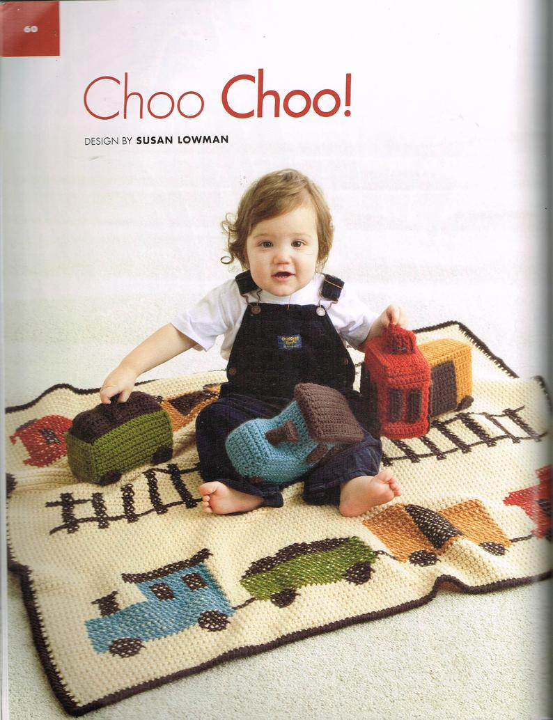 Big Book of Crochet Afghans: 26 Afghans for Year-Round Stitching Choo choo! Blanket and amigurumi (stuffed toy) train blanket pattern