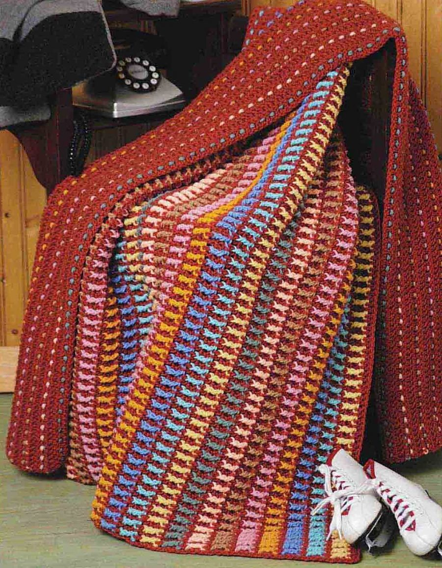 Big Book of Crochet Afghans: 26 Afghans for Year-Round Stitching -  double sided Winter Warmer fall/winter blanket pattern