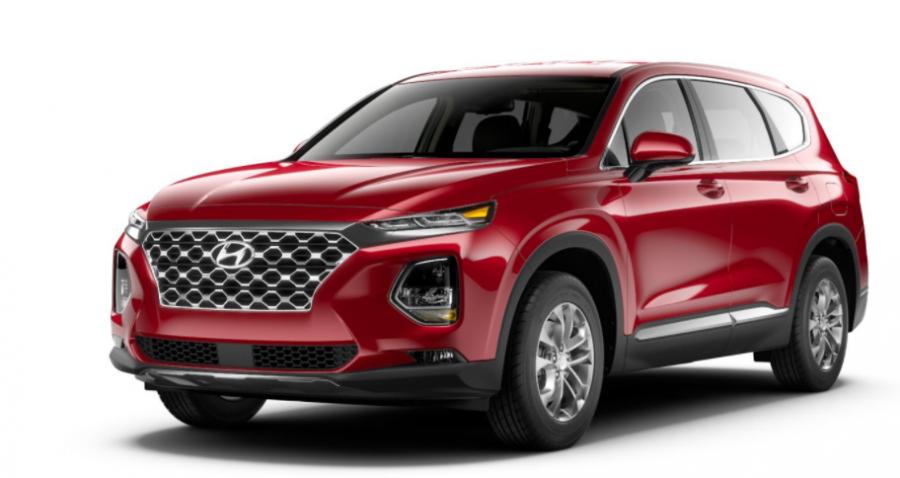 2020 Hyundai Sante Fe Calypso Red