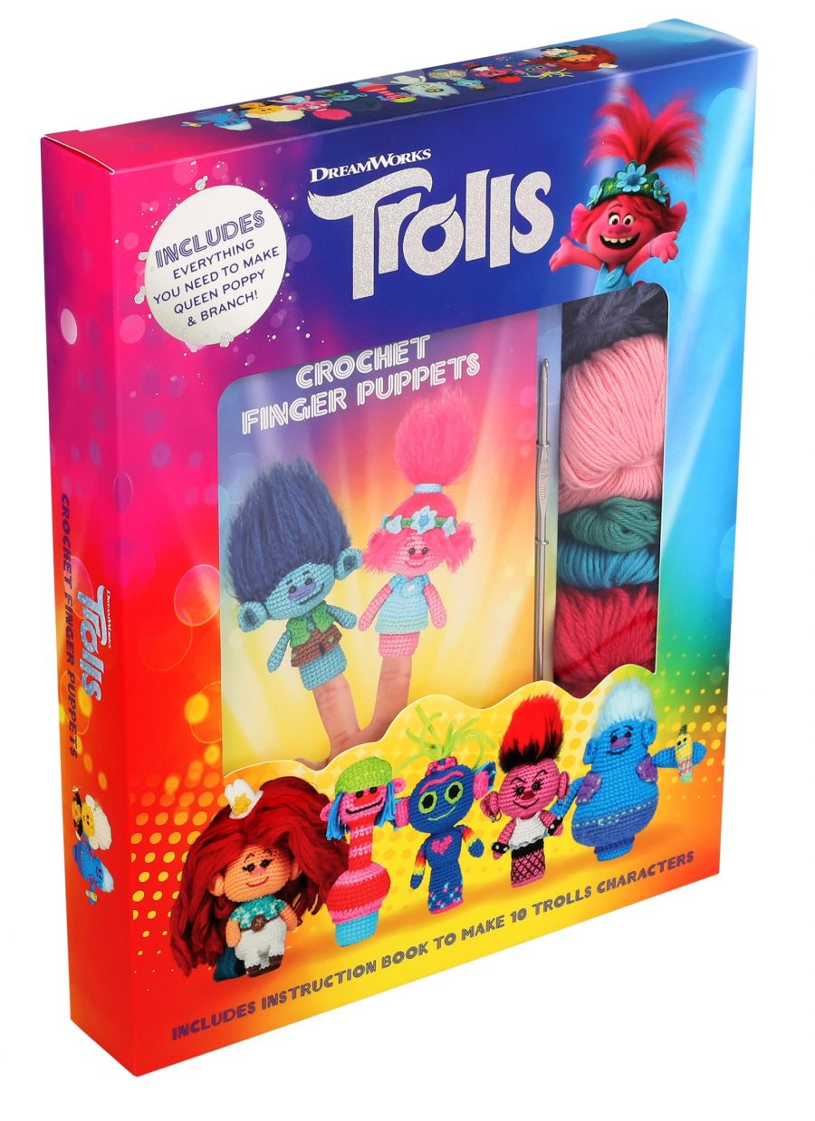 DreamWorks Trolls: Crochet Finger Puppets Kit aff