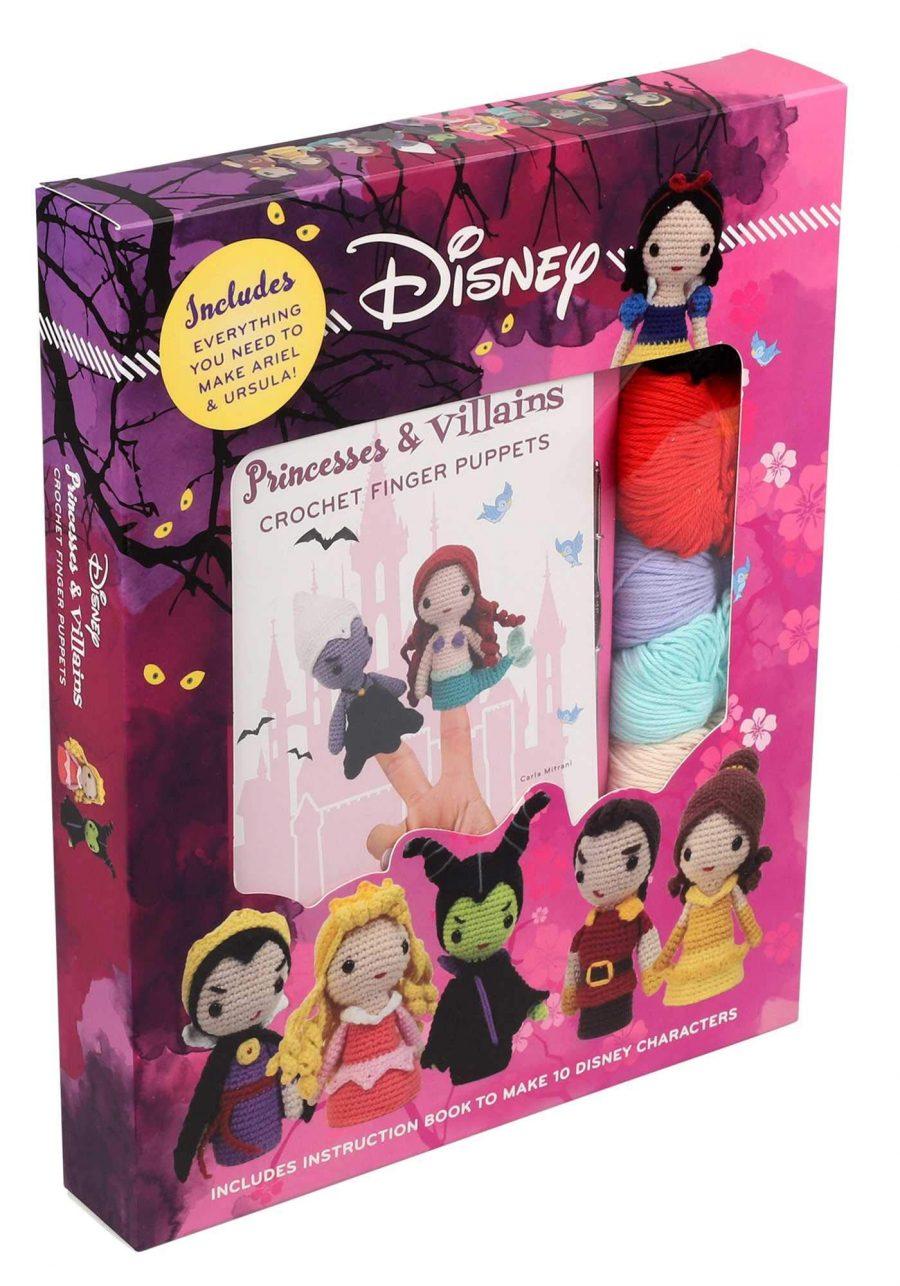 Princesses Villains Crochet Finger Puppets aff
