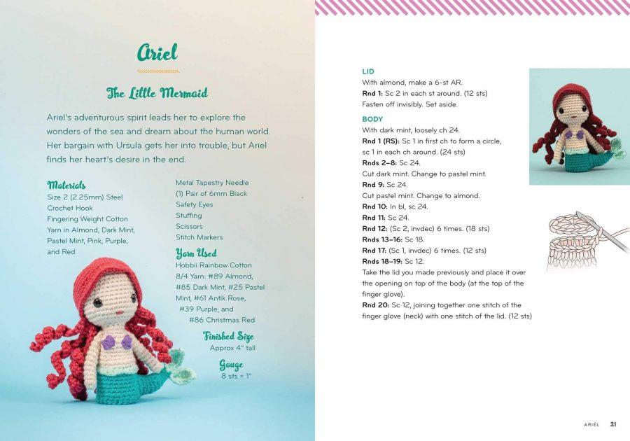 Disney Princess vs Villains Crochet Finger Puppet Kit  - Arial  aff
