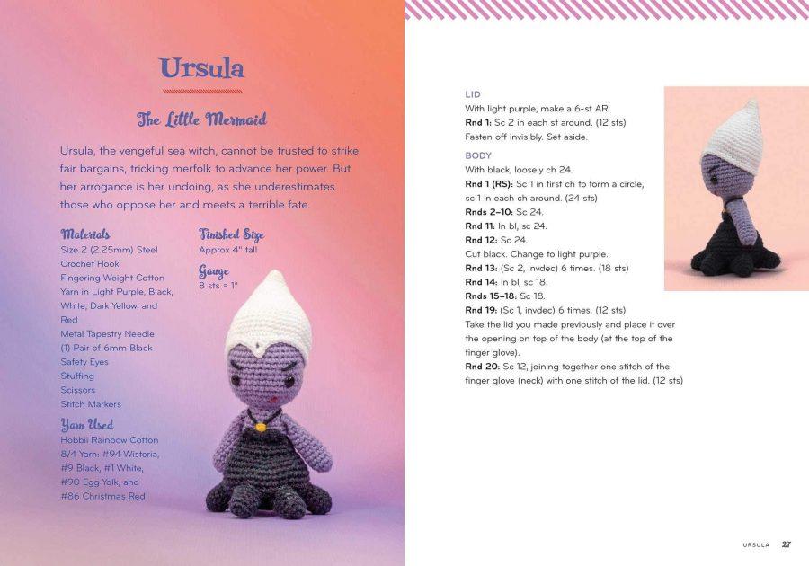 Disney Princess vs Villains Crochet Finger Puppet Kit - Ursula aff
