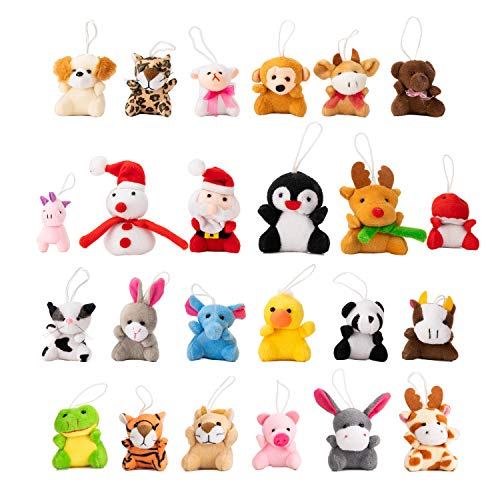 JOYIN 2020 Mini Animal Plush Advent Calendar